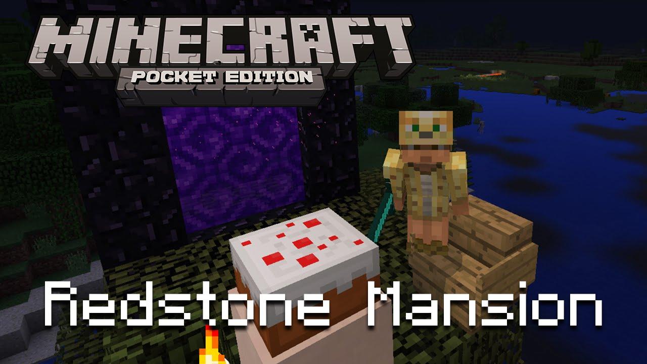 Особняк из красного камня в Minecraft Pocket Edition