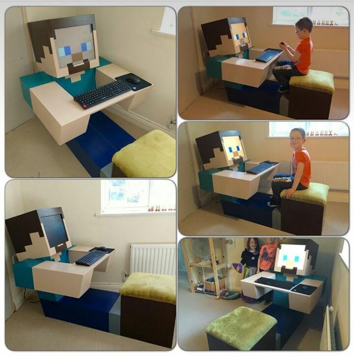 Компьютерная мебель для любителей Майнкрафта