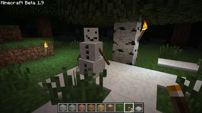 Первый скриншот снеговика (Автор: Notch)