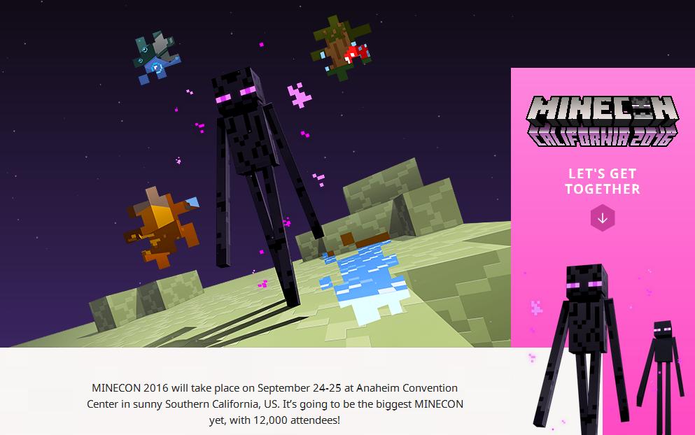 Стиль оформления Minecon-2016 посвящён Энду