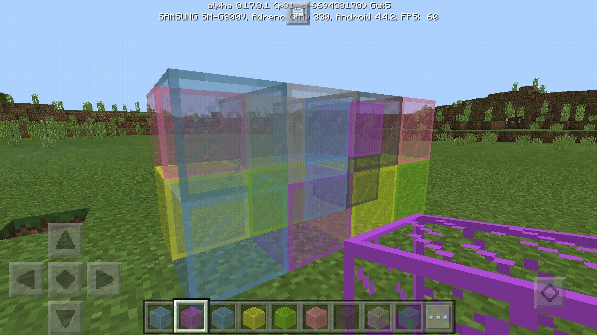 Как сделать а minecraft стекло