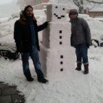 Как строили снеговика перед офисом Mojang