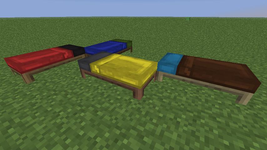 Скачать мод на цветные кровати