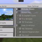 Minecraft Pocket Edition 1.2: настройка игровых правил при создании мира