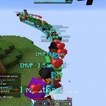 Hypixel прокатил игроков (на летающем поезде из блоков)