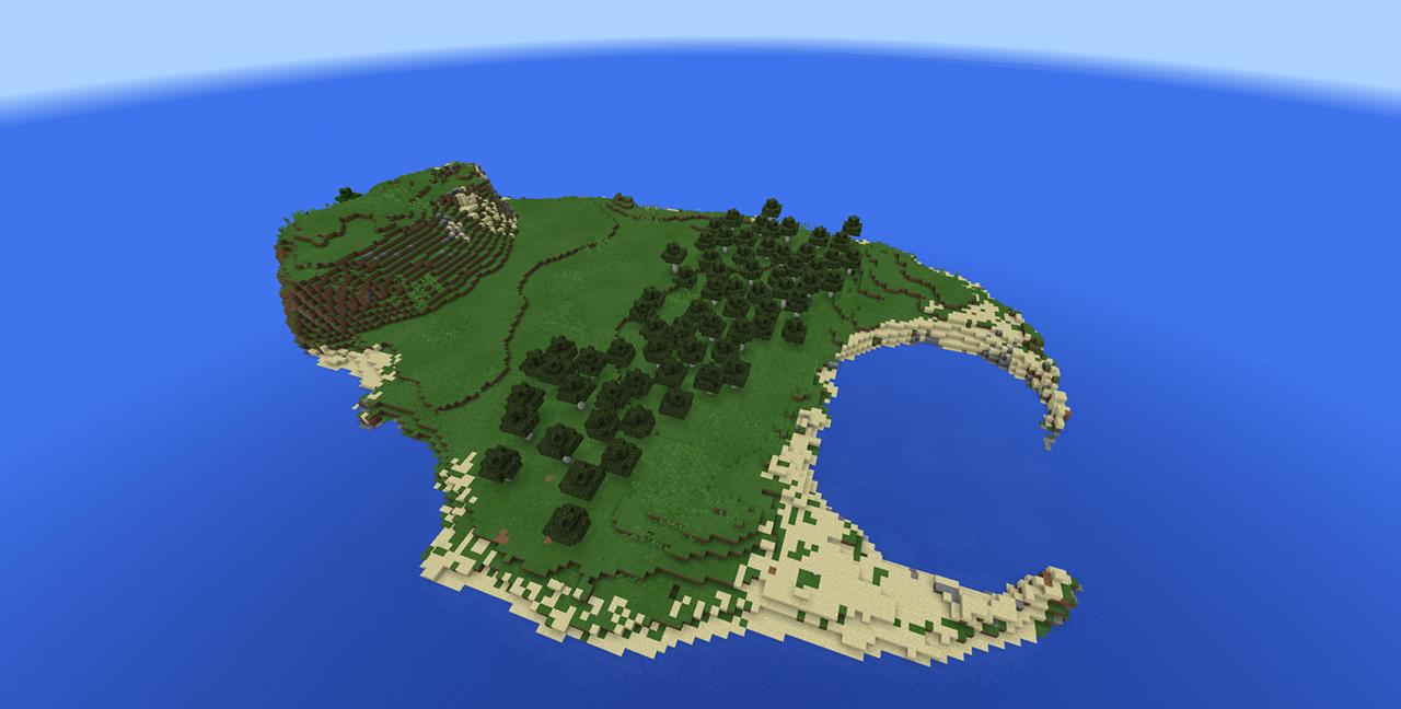 Мир из книги Minecraft: The Island (Остров) воссоздали в виде карты для игры