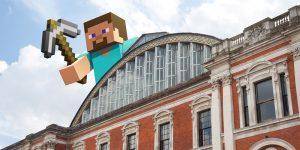 Стив выглядывающий из-за здания