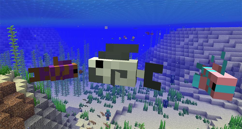Картинки майнкрафт рыбы