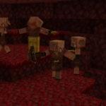 Танец пиглинов в новой версии Minecraft 1.16, снапшот 20w22a